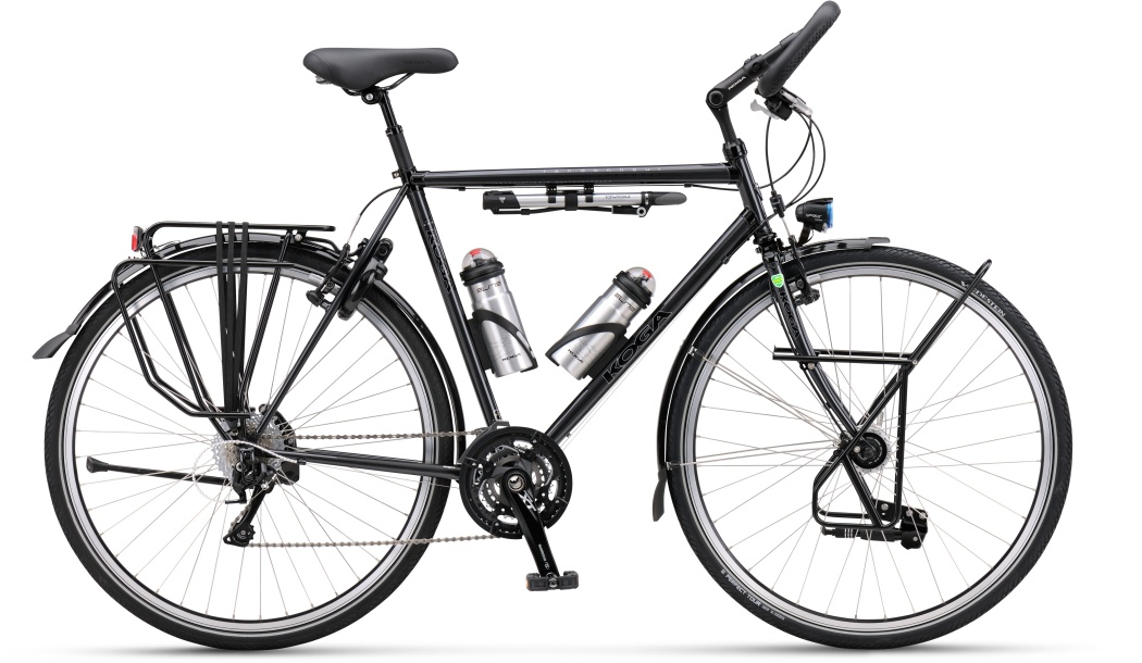 Wyposażenie roweru turystycznego.