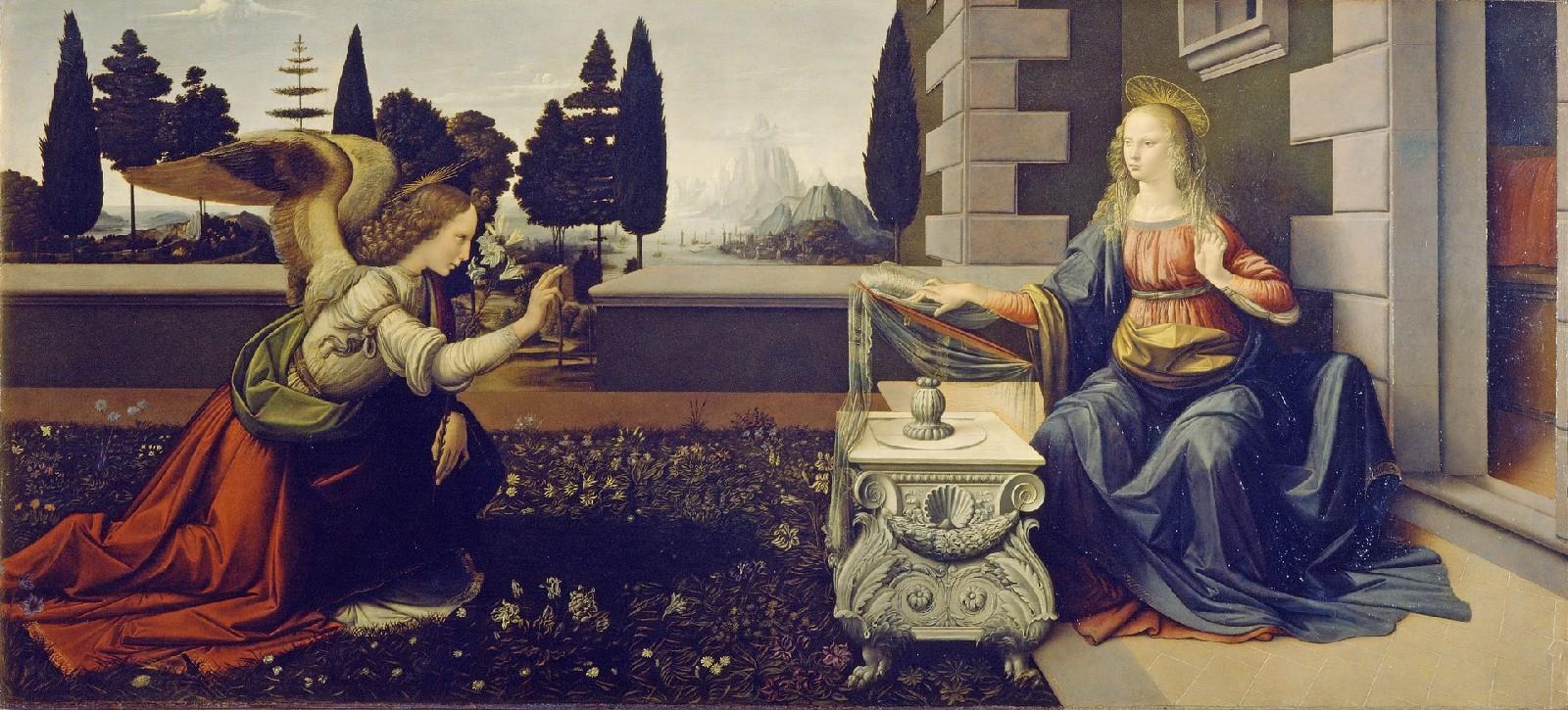 Zwiastowanie - Leonarda da Vinci